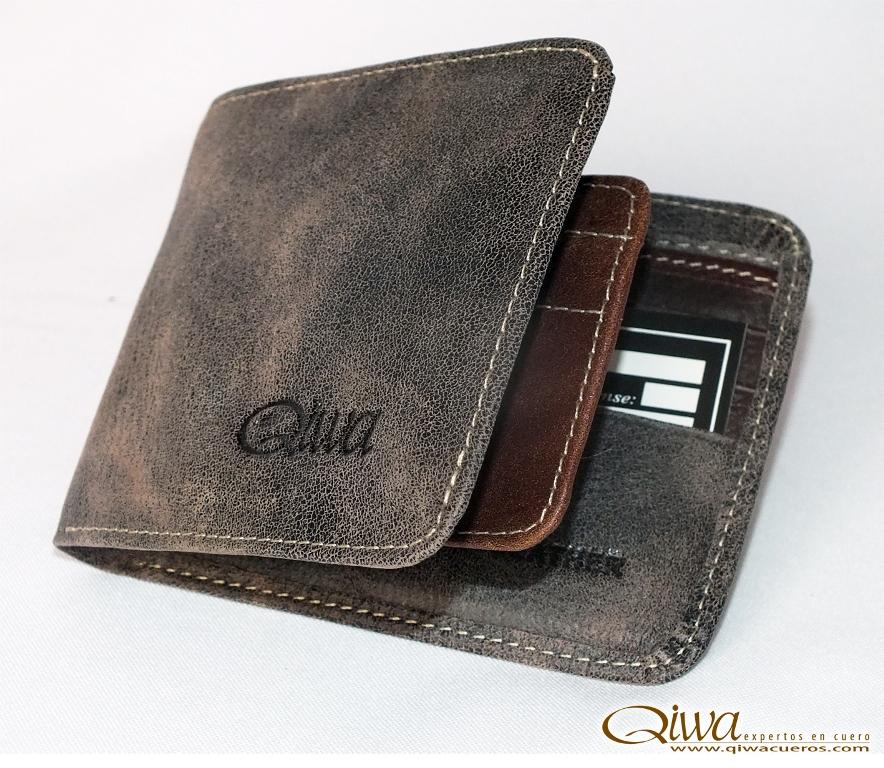 Billetera Café Oscuro Qiwa